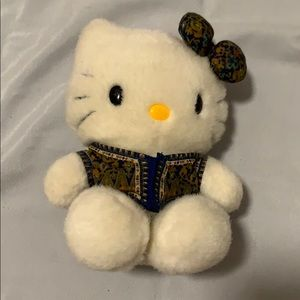 Cute hello kitty with blue bow & vest